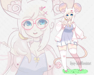 (OPEN PRICE REDUCED) Pastal Cute Mouse Girl .o74 by Mymy-TaDa