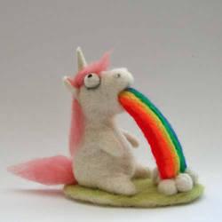 Rainbow Puking Unicorn by Sofakitty