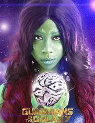 Gamora and the orb by Panterona