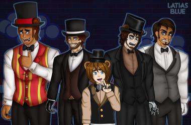 Freddy Fazbear Group by LatiasBlue