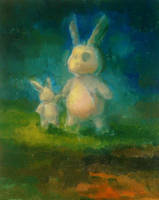 Bunnies in the Night by angrymikko