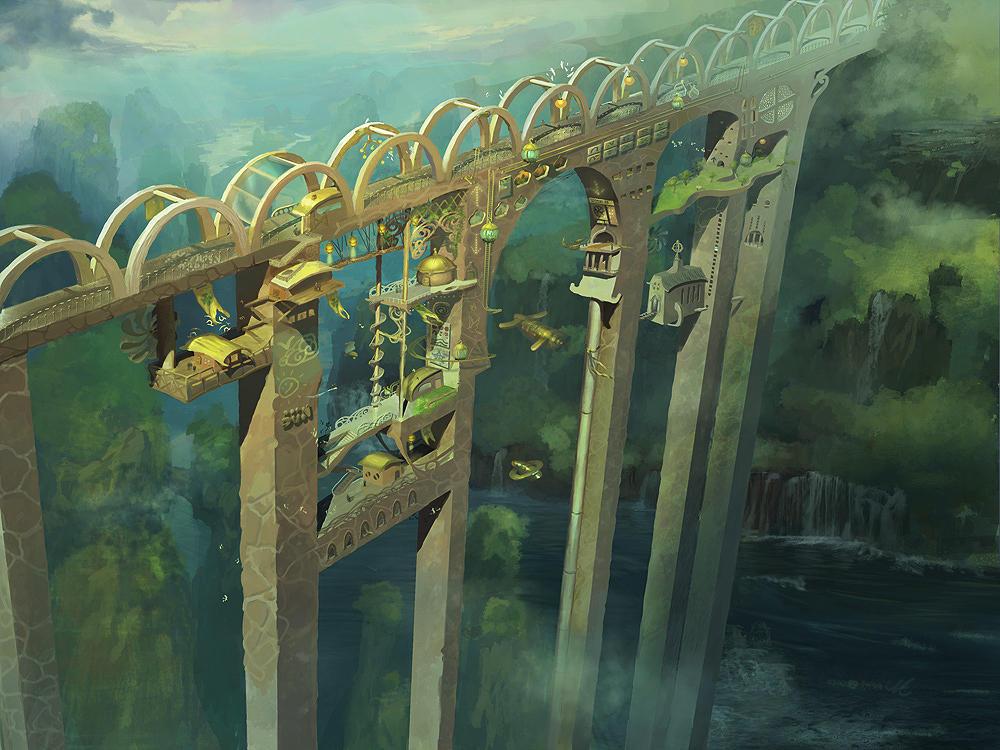 Village of the Bridge by angrymikko