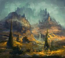 Yellow Fields by angrymikko