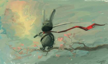 Ninja Bunny by angrymikko