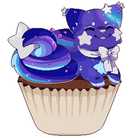 Galaxy Geode Cupcake by Yanchamu