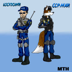 Copman and Lockdown by Marcusthehedgehog