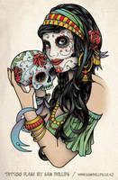 Gypsy and sugar skull by Sam-Phillips-NZ