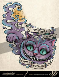 Cheshire Cat Foot Tattoo by Sam-Phillips-NZ
