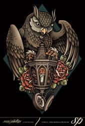 Lantern-owl-tee by Sam-Phillips-NZ