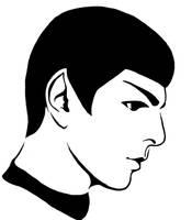 Spock Stencil by MCRizLIFE