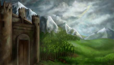 Fantasy Landscape by pokePiterr