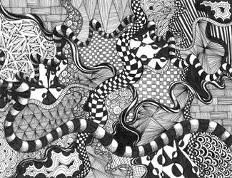 Zentangle by elementjhedren
