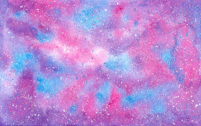 Cotton Candy Galaxy with Sugar Crystal Stars by therogueone