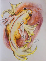Daily Sketch 3: Winged Goldfish by CatsiefY