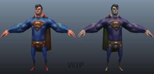 Superman vs Bizarro Superman by DuncanFraser