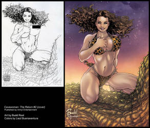 Cavewoman: The Return #2 Cover by lizzbuenaventura