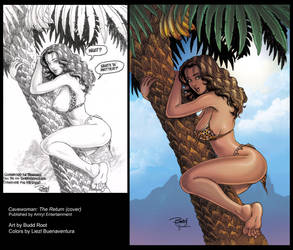 Cavewoman: The Return #1 Cover by lizzbuenaventura
