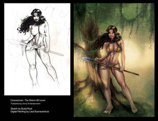 Cavewoman: The Return #3 Cover by lizzbuenaventura