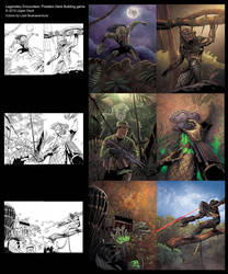 Legendary Encounters: Predator card art by lizzbuenaventura
