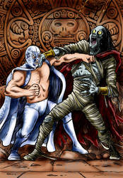 Santo Contra la Momia Azteca by Loneanimator