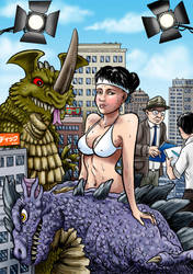 Kaiju Girl by Loneanimator