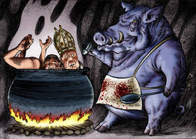 Boiling In Hell by Loneanimator