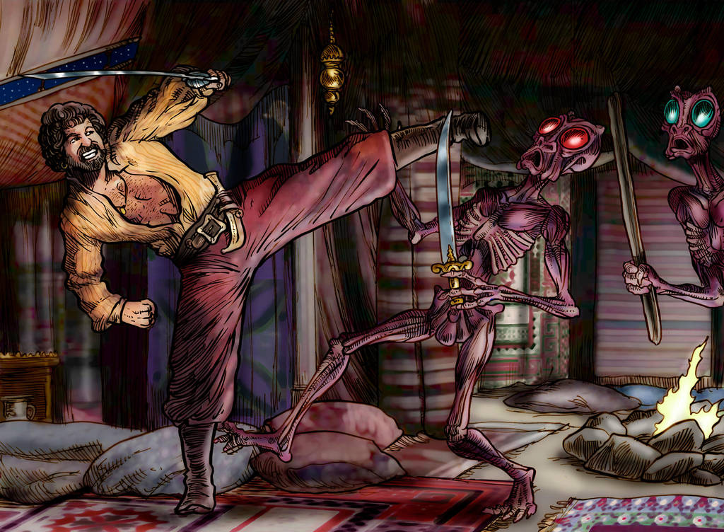 Sinbad Packs a Mean Roundhouse by Loneanimator