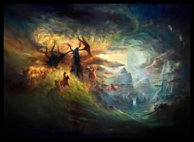 The Wild Hunt by Yoann-Lossel