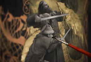 Beowulf... work in progress 6... Fight the dragon by Yoann-Lossel