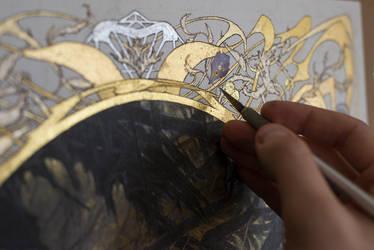 L'Antichambre - Work in progress 3... Art Nouveau by Yoann-Lossel