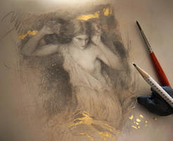 Study of Waterhouse painting, Lamia by Yoann-Lossel