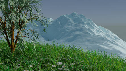 Tree on the Hill by Anegen