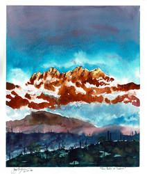 Four Peaks At Sundownw by CheshFire