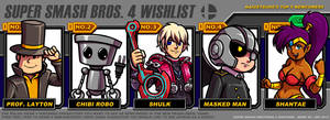 Kaigetsudo's Super Smash Brother's 4 Wishlist by Kaigetsudo