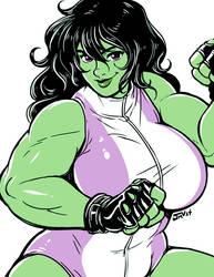 She-Hulk by Kaigetsudo