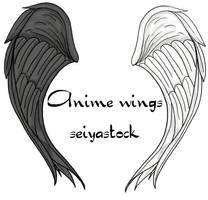 anime wings seiyastock by seiyastock