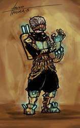 Steampunk guy by Alzareth