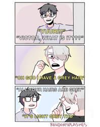 YOI: GREY HAIR by Randomsplashes