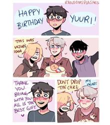 HAPPY BIRTHDAY YUURI!!!! by Randomsplashes