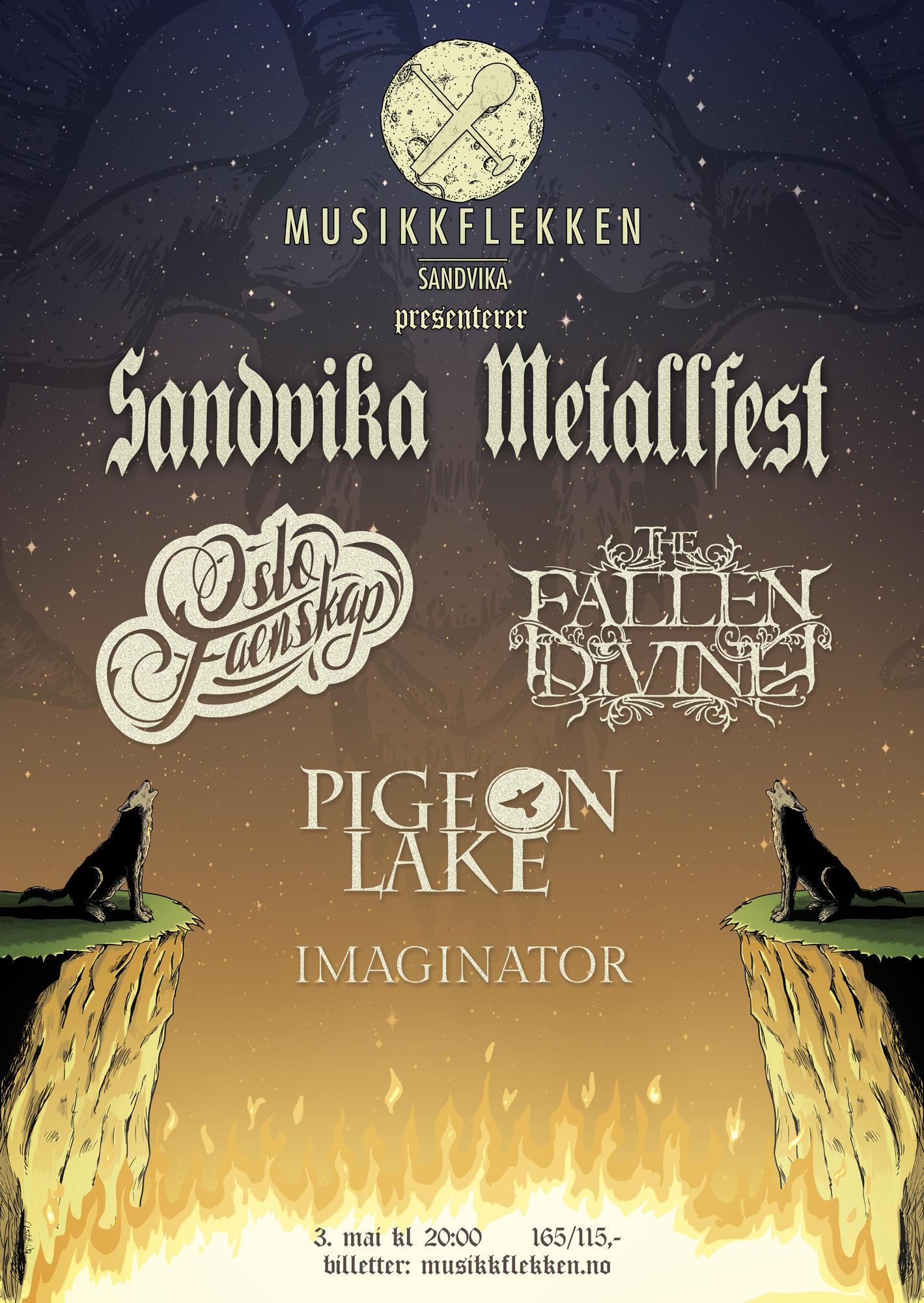 Sandvika Metallfest Poster by christofferwig