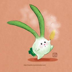 Scallions Rabbit by migoibonmat