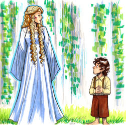 Galadriel and Frodo by LadyPep