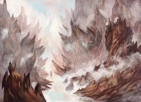 dangerous mountains by fallen-eye