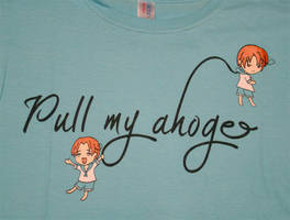 Pull My Ahoge Hetalia tee by rogueymu