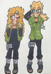 Atsumi and Inosuke by Megaaudinooo