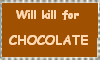 Deadly Chocolate Stamp by mouselady