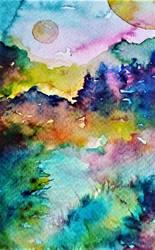 watercolor- sunset by Saitonart