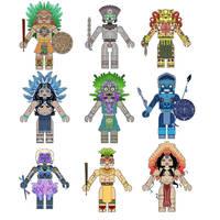 Aztec Mythology Minimates by Chazwinski