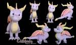 Spyro Custom Plush by Chibi-pets