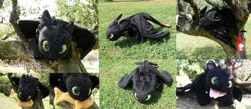 Thoothless Custom Plush by Chibi-pets